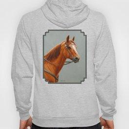 Red Dun Western Quarter Horse Hoody