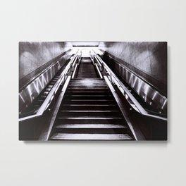 Silver Stairway Metal Print