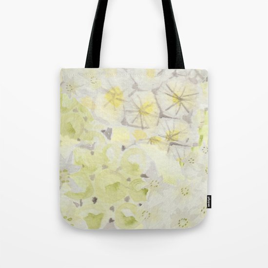 Lemon Abstract Tote Bag