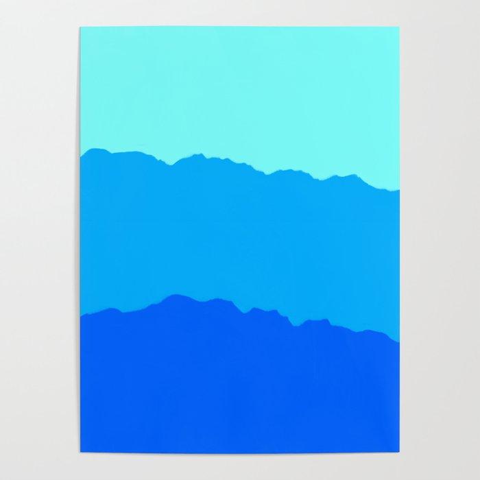 Minimal Mountain Range Outdoor Abstract Poster