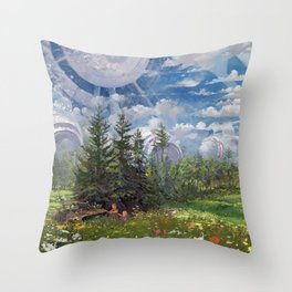 The Powerplant, Alterslavia, revised Throw Pillow