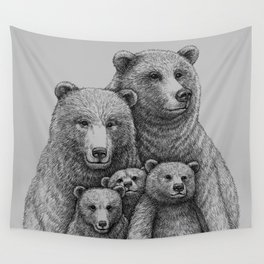 Family photo (mr. Bear) Wall Tapestry