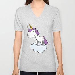 Adorable unicorn Unisex V-Neck