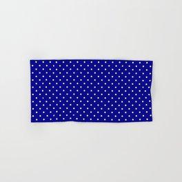 Mini White Polkadots on Australian Flag Blue Hand & Bath Towel
