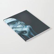 Stormtrooper Melting Dark Notebook