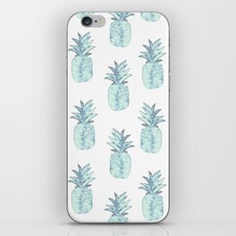 Turquoise Pineapple iPhone Skin