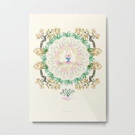 yoga garden I Metal Print