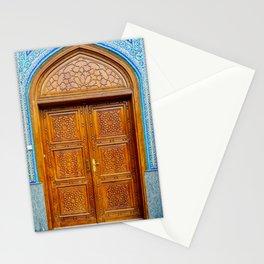 Door of Iranian Mosque in Bur Dubai Stationery Cards