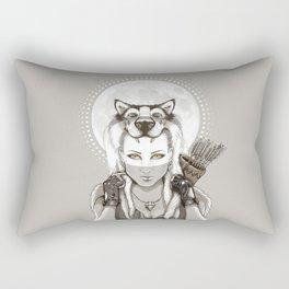 Fear Makes the Wolf... Rectangular Pillow