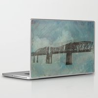 broadway Laptop & iPad Skins featuring Broadway Bridge by Chantel Greene
