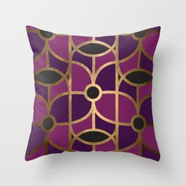 Art Deco Graphic No. 42 Throw Pillow
