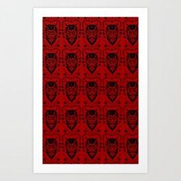 Krampus black on red Art Print