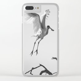 African Spoonbill II Clear iPhone Case