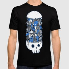 doodle breakout (blue) Mens Fitted Tee Black MEDIUM
