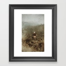 Lonely Cowboy Framed Art Print
