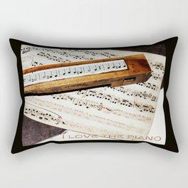 I love the piano Rectangular Pillow