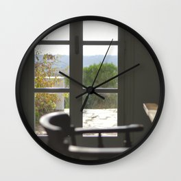Door with a View Wall Clock