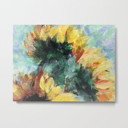 Sunflowers in a Vase Metal Print