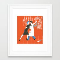 meat Framed Art Prints featuring Meat by avital manor