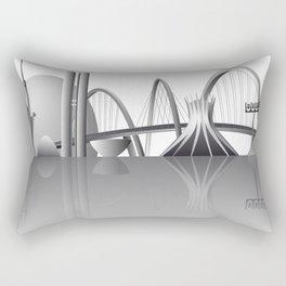 Brasilia city skyline Rectangular Pillow