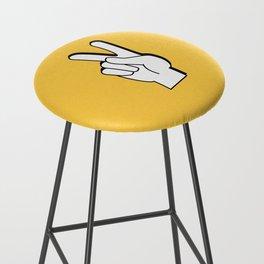 Peace Sign yellow Bar Stool