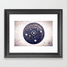 City Electric Framed Art Print