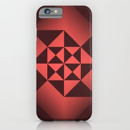 Abstract Triangles - Ruby iPhone Case