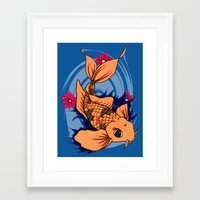 koi fish Framed Art Prints featuring koi fish by Pinkspoisons