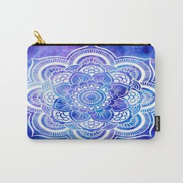 Mandala Blue Lavender Galaxy Carry-All Pouch