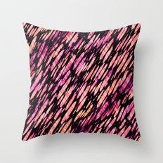 Fruit Stripe Brushstroke Throw Pillow