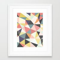 deco Framed Art Prints featuring Deco Tris by Beth Thompson