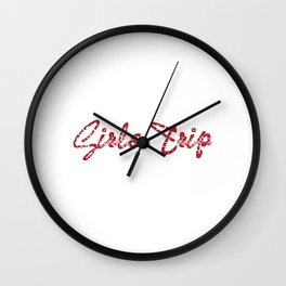 "Still out there looking for a nice gift this holiday?Grab this ""Girls Trip Cheaper Than Therapy"" tee Wall Clock"