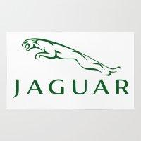 jaguar Area & Throw Rugs featuring Jaguar by kartalpaf