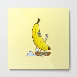 The Banana Skater Metal Print