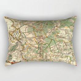 Map Of Holland 1658 Rectangular Pillow