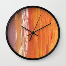Golden Mist Wall Clock