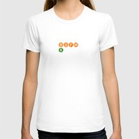 broadway T-shirts featuring subway broadway sign by Art Lahr
