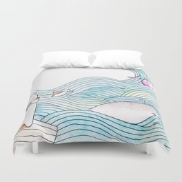 Bear Adventures Duvet Cover