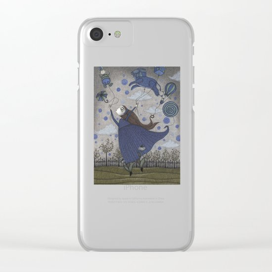 Violetta Dreaming Clear iPhone Case