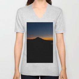 Sunset in the Teide Unisex V-Neck