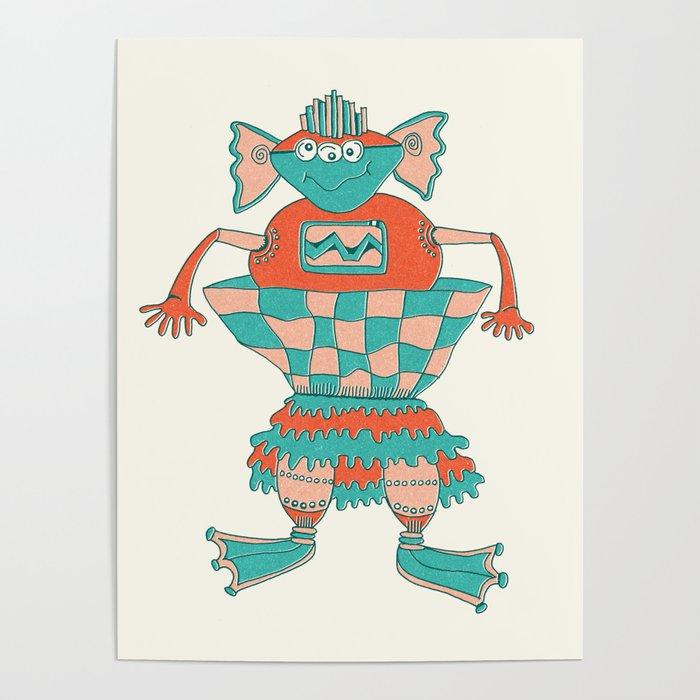 Robot Alien Monster No 266 Poster