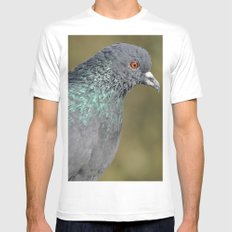 The great Indian pigeon Mens Fitted Tee White MEDIUM