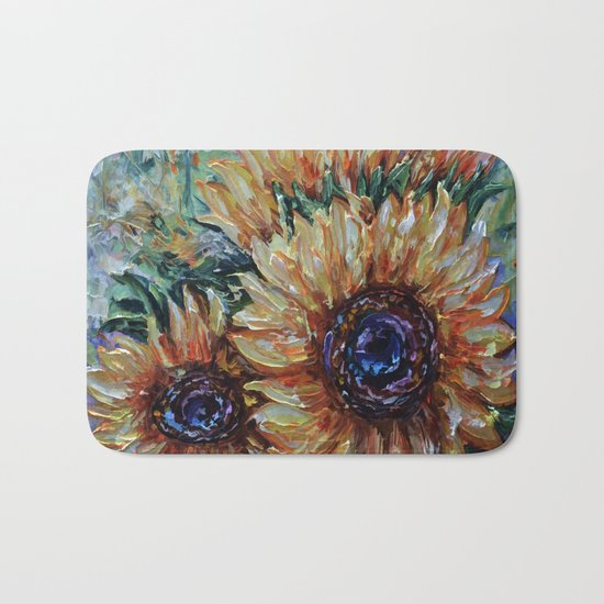 Ah, Sunflower by Lena Owens Bath Mat