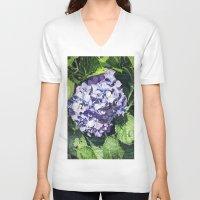 hydrangea V-neck T-shirts featuring Hydrangea by Linda Hoover