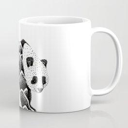 Bamboo Panda Bear Mountains and leaves dot-work, pointillism Coffee Mug