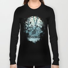 Dark Forest Skull Long Sleeve T-shirt