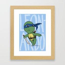 TMNT: Leonardo (Cute & Dangerous) Framed Art Print