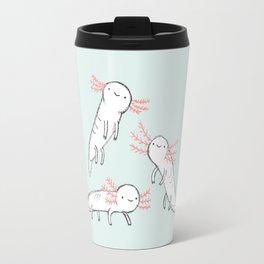 Three Little Axolotls Travel Mug