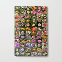 Flowers Montage Metal Print