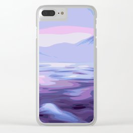 Purple Mountains Clear iPhone Case